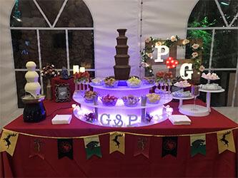 fuente chocolate bodas